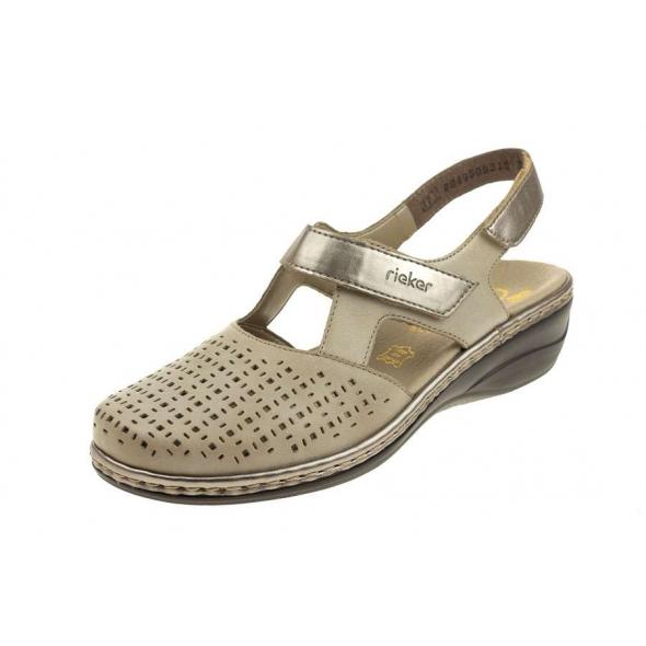 Rieker 47775-42 wygodne damskie sandały