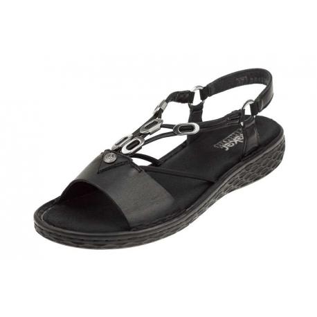 Rieker V22L9-00 wygodne damskie sandały