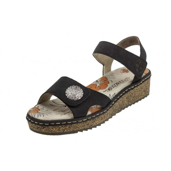 Rieker V03J6-14 wygodne damskie sandały
