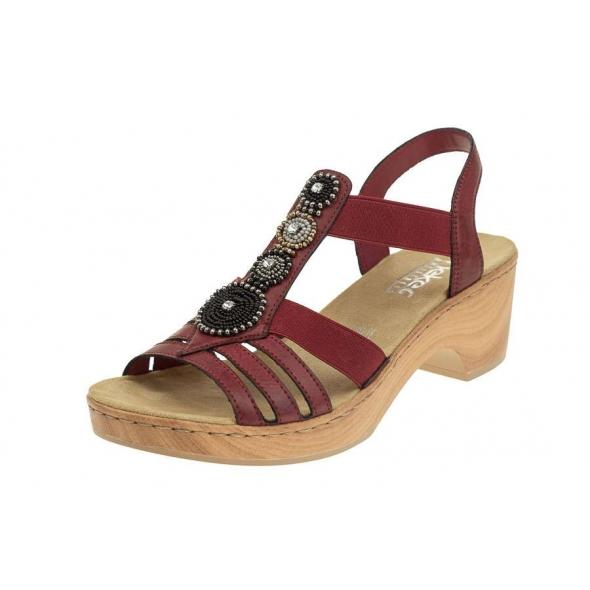 Rieker V28S8-35 wygodne damskie sandały