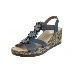 Rieker V7673-12 wygodne damskie sandały