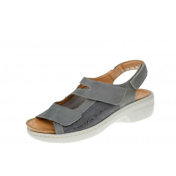 Axel Comfort 2443 wygodne szare damskie sandały