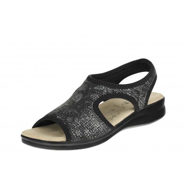 Sanital Flex 8056.17 Nero wygodne damskie sandały