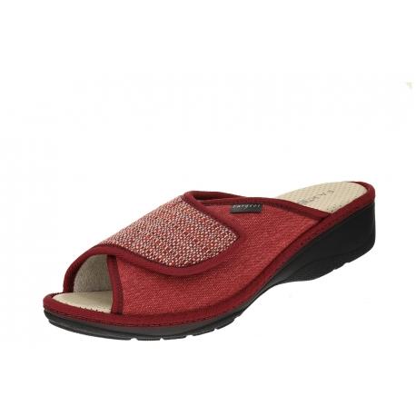 Fargeot Pablita Rouge wygodne damskie klapki