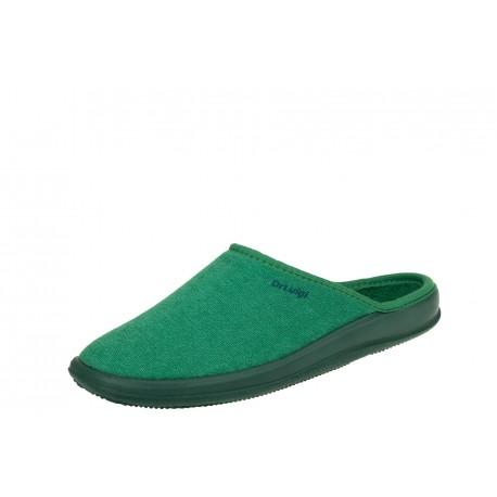 Dr Luigi zielone wygodne zdrowotne damskie kapcie