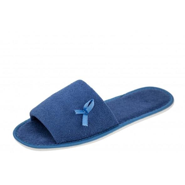 Frisco F9 wygodne niebieskie damskie kapcie