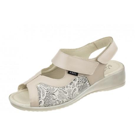 Axel Comfort 2463 wygodne beżowe damskie sandały