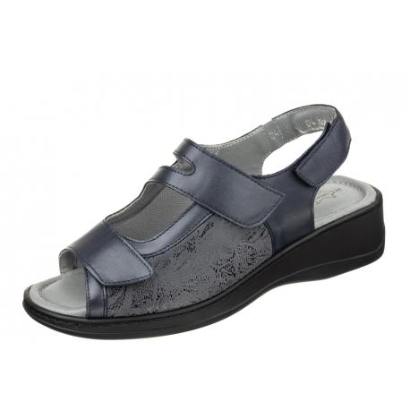 Axel Comfort 2462 wygodne zdrowotne granatowe damskie sandały