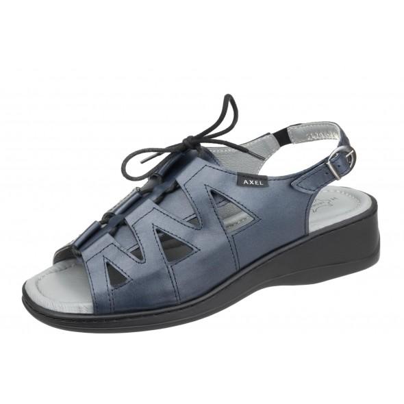 Axel Comfort 2479 granatowe wygodne damskie sandały