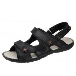 Lesta 1133 czarne wygodne męskie sandały