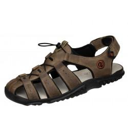 Lesta 1095 beżowe wygodne męskie sandały