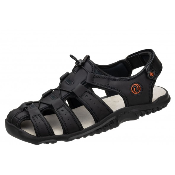 Lesta 1095 czarne wygodne męskie sandały