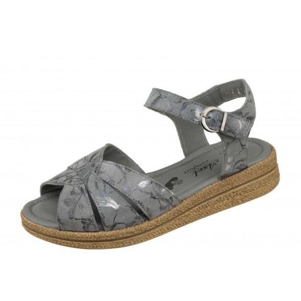 Axel Comfort 2477 szare wygodne zdrowotne damskie sandały