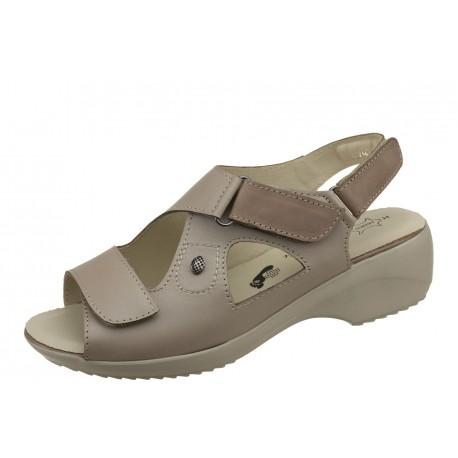 Axel Comfort 2435 beżowe wygodne zdrowotne damskie sandały