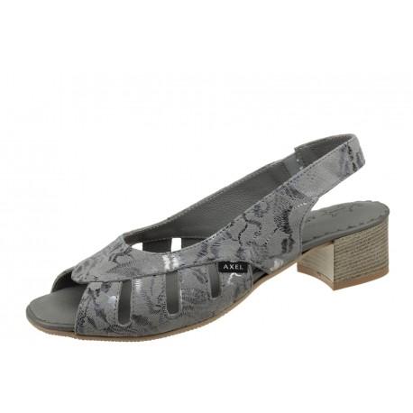 Axel Comfort 2460 wygodne zdrowotne szare damskie sandały
