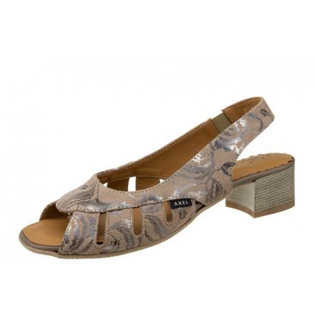 Axel Comfort 2460 wygodne beżowe damskie sandały