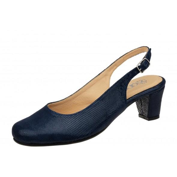 Andy 829 H wygodne granatowe damskie sandały