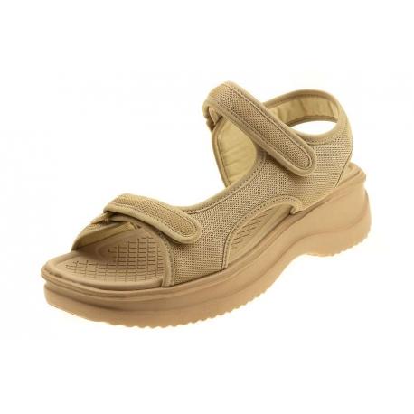 Azaleia 320 wygodne beżowe sandały damskie