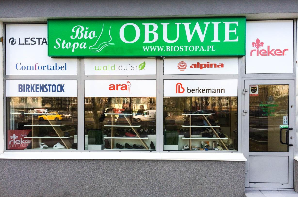 Sklep obuwniczy Bio Stopa Al. Niepodleglosci 103 Warszawa