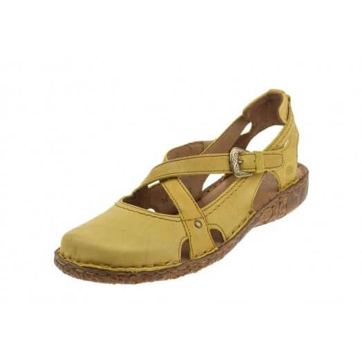 Damskie sandały Josef Seibel koloru żółtego